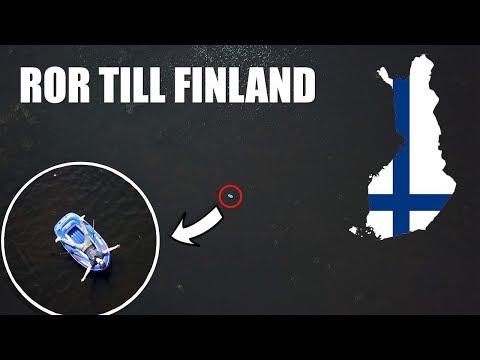 ROR TILL FINLAND MED EN LITEN GUMMIBÅT!