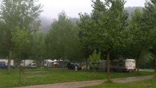 Pluja al Càmping Pirinenc, Campdevànol 22/08/2014