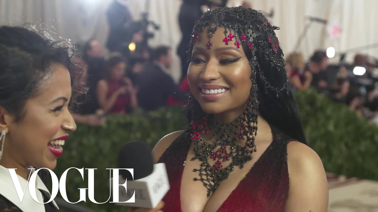 Nicki Minaj on Tempting Men at the Met Gala | Met Gala 2018 With Liza Koshy | Vogue