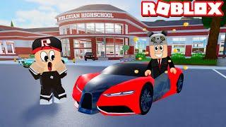 Okula En Pahalı Araba ile Gittim!! - Panda ile Roblox Robloxian High School