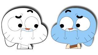 How to Draw Gumball Watterson  تعلم طريقة رسم جامبول