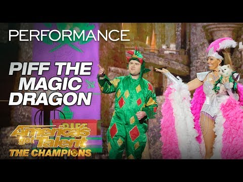 Piff The Magic Dragon: Hilarious Magician Shocks Heidi Klum – America's Got Talent: The Champions