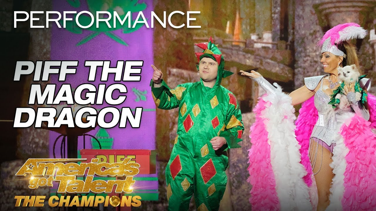 Piff The Magic Dragon: Hilarious Magician Shocks Heidi Klum - America's Got Talent: The Champio