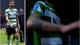 Man Utd transfer target Bruno Fernandes rages as he storms down tunnel after Sporting loss- trans...