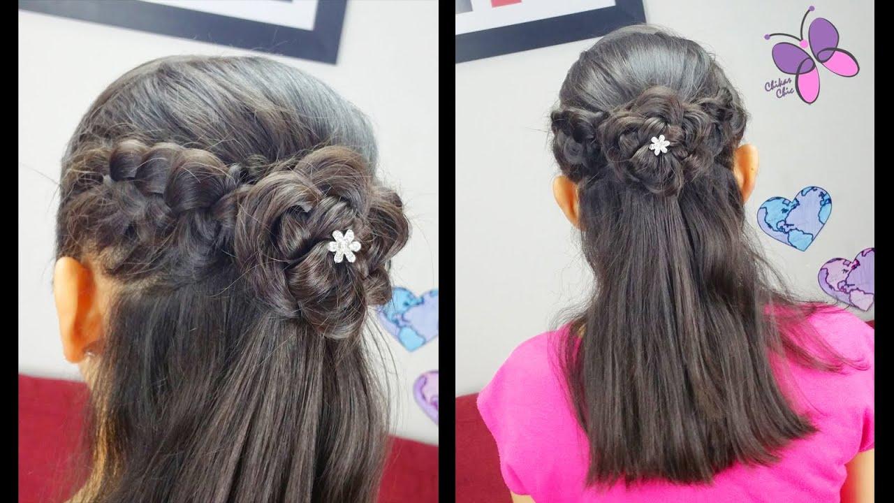 Peinado Elegante Con Flor Peinados Faciles Peinados
