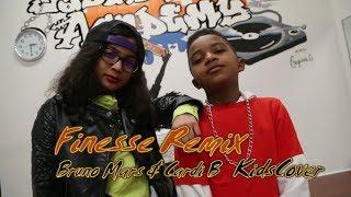 Finesse Remix - Bruno Mars & Cardi B CUTE KIDS DANCE COVER