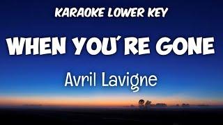 Avril Lavigne - When You're Gone (Karaoke Lower Key)
