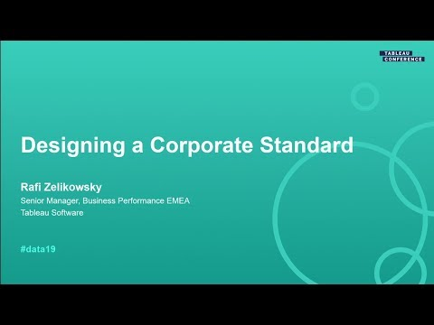 Designing A Corporate Standard For Your Dashboards