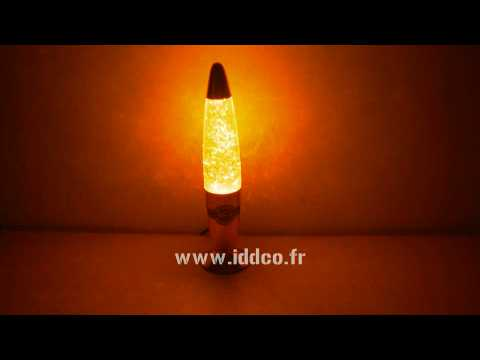 Lampe A Lave Or Paillettes Decoration Youtube