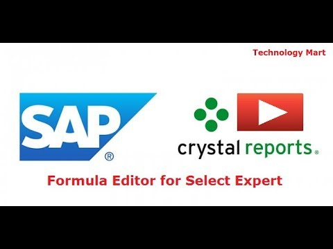 SAP Crystal reports The Formula Editor for Select Expert