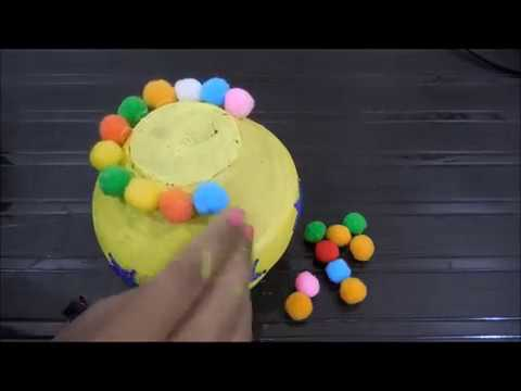 Easy & Simple Matka/ Pot Decoration For Kid | Pot Painting Ideas For Beginners