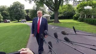 President Trump Delivers Remarks Upon Departure
