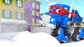 Video Pengresik salju ⛄ Snowplow 🚚 Carl si trek super⍟Truck Animation for Kids download MP3, 3GP, MP4, WEBM, AVI, FLV Agustus 2018