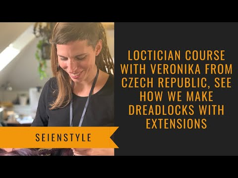 Loctician Course With Veronika From Czech Republic, See How We Make Dreadlocks With Extensions