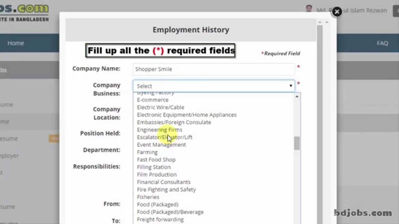how to update employment history youtube