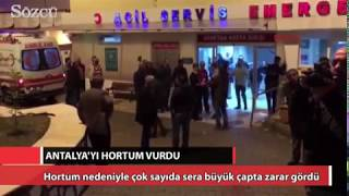 Antalya'yı hortum vurdu: Çok sayıda yaralı var.