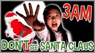 DO NOT SEE SANTA CLAUS AT 3AM!! 【深夜にサンタクロースを見ちゃダメ!】なりきり ホラー かのん&りんたん ♥ -Bonitos TV- ♥