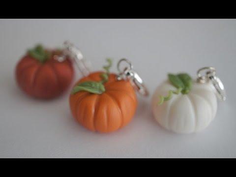 Clay Pumpkin Earrings