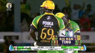 Dre Russ notches up the fastest #CPL 💯 (40 Balls) Now that's #CricketPlayedLouder