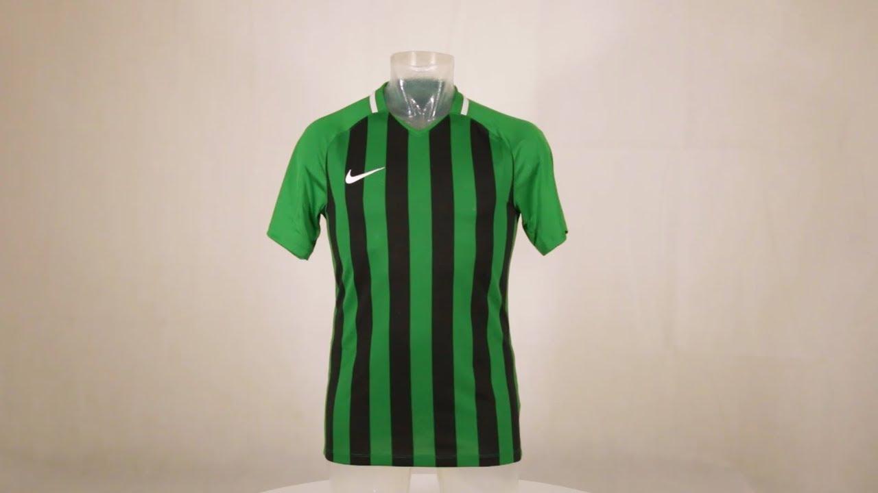 Nike Striped Division III Short Sleeve Football Shirt Pine Green Black fee7264f8