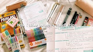 How I Take Notes, Get Straight A's, My Essentials, Back To School Tips +GIVEAWAY☺︎