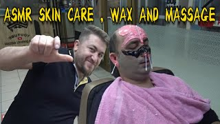 ASMR TURKISH BARBER MASSAGE SKIN CARE NECK CRACK RAZOR BEARD SHAVE head back sleep foot ear massage