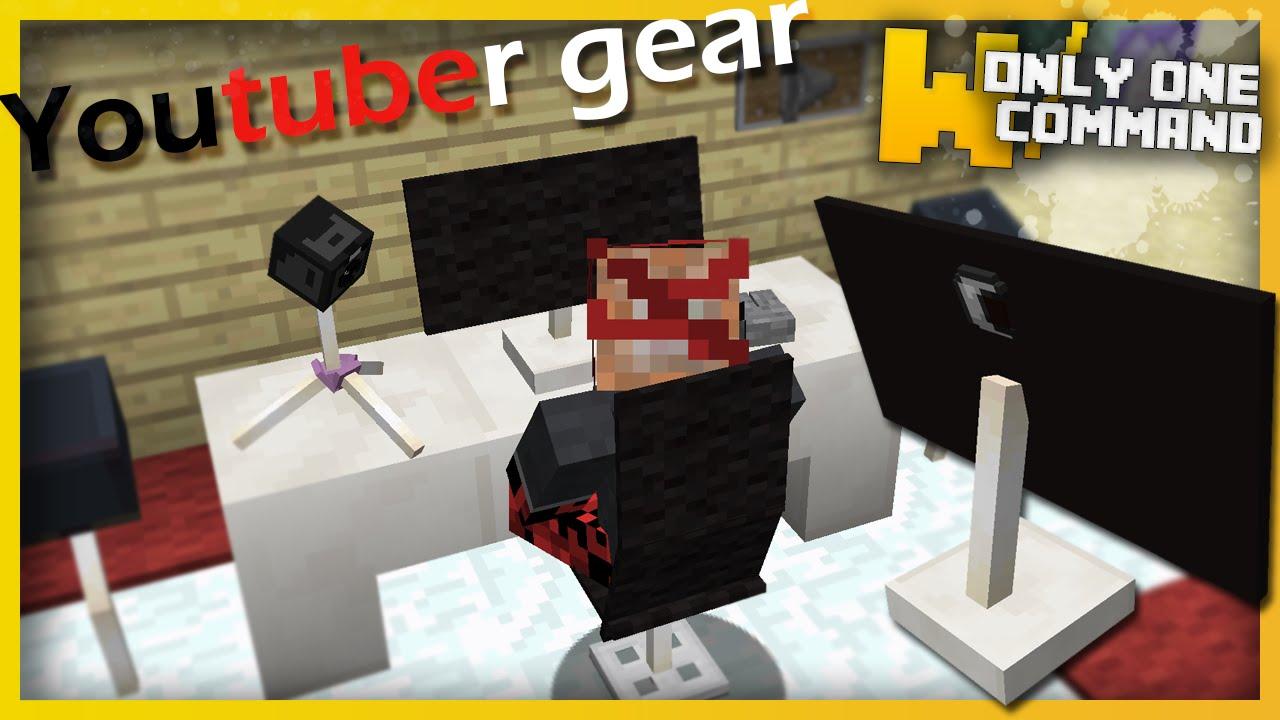 Minecraft Youtuber Gear With Only One Command Block Computers - Minecraft hauser verschonern