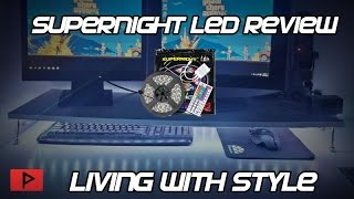 supernight led smd 5050 rgb flexible light strip kit with led controller and remote review