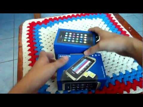Nokia Asha 308 unboxing with N9