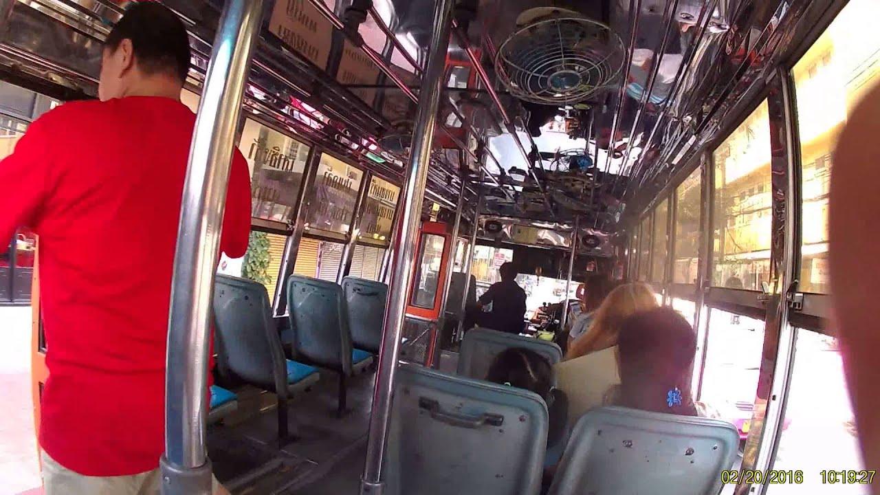 รถเมล์ซิ่ง ผ่านถนนราชดำเนิน ไปลง ดิโอลด์สยาม 20กพ59 - YouTube