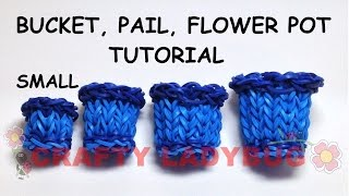 Rainbow Loom Small Bucket-pail-pot Advanced Charm Tutorial By Crafty Ladybug. Wonder Loom, Diy Loom