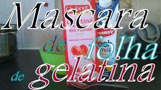 Mascara de folha de gelatina