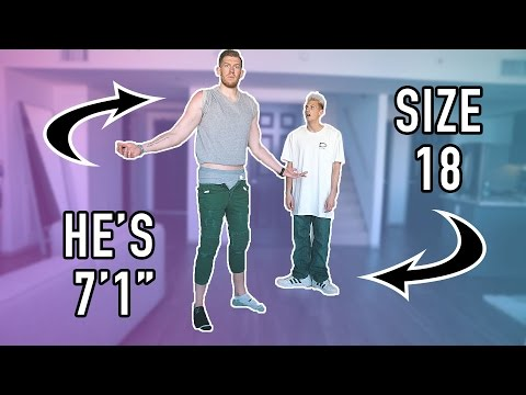Thumbnail: SWITCHING CLOTHES WITH A 7 FOOT TALL GUY IN PUBLIC!