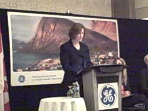 Elyse Allan speaks at GE Canada's launch of Shaping Growth in Canada's Remote Community Economies