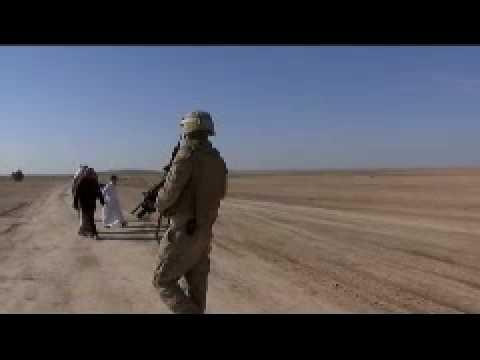 US Marines On Patrol Near the Syrian Border