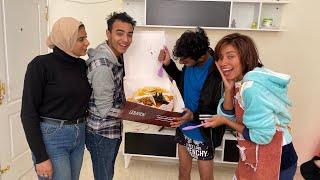اول زيارة لعبد الرحمن و هبه بعد الجواز عملنلهم احلي مفاجئة ❤️😍