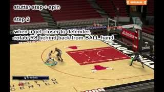 [EXBC] NBA2K14 tutorial CROSSOVER SPIN EASY PENETRATION