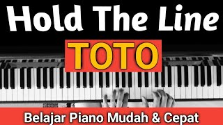 TOTO - HOLD THE LINE (INTRO)| TUTORIAL PIANO #SHORT