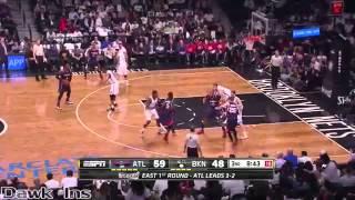Kyle Korver Full Highlights 2015 Playoffs R1G6 at Nets - 20 Pts, 8 Rebs, 4 Dimes, 6 Threes!