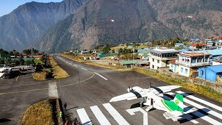 LUKLA Airport 2018 - THE MOST DANGEROUS AIRPORT in the world - 15 LANDINGS (HD)
