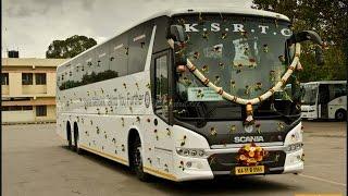 ksrtc scania hd metrolink 13 7m and 14 5m multi axle ac buses karnataka