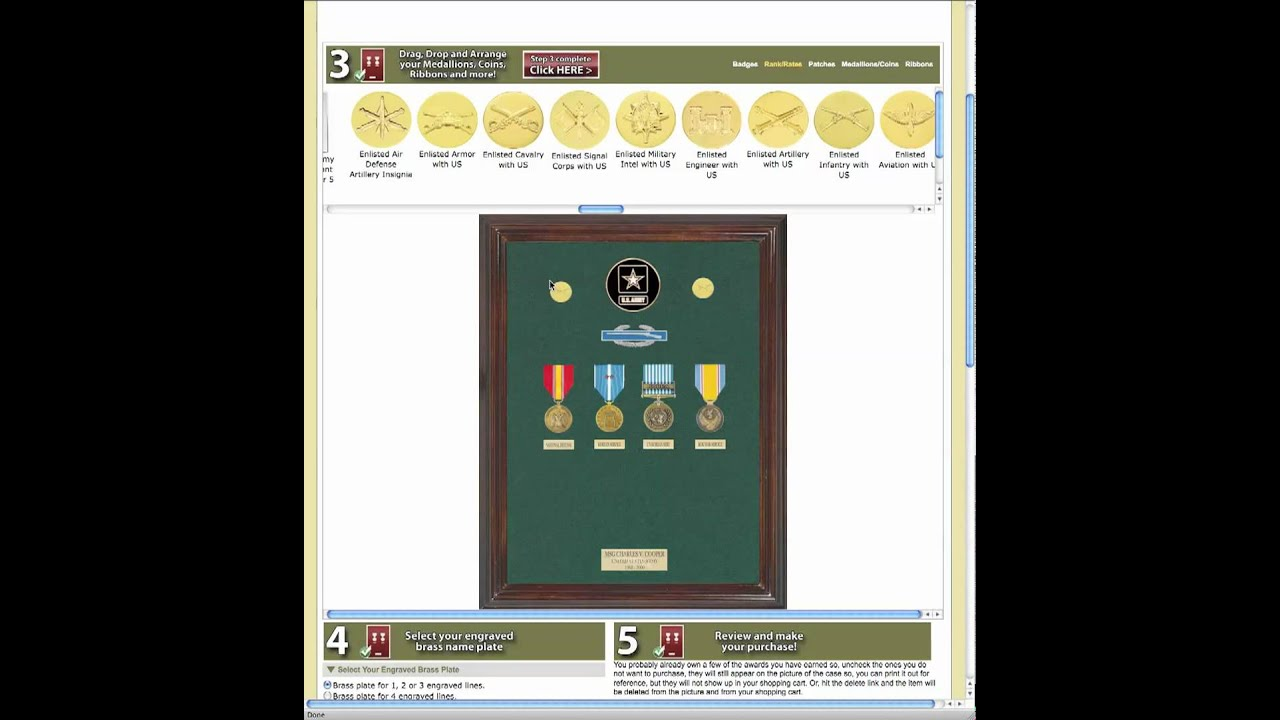 Custom Military Awards Display Case Builder - Medals of America