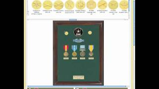 Custom Military Awards Display Case Builder - Medals Of America