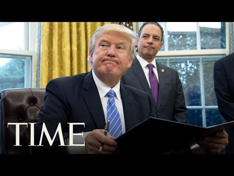 President Trump Signs An Executive Order Rolling Back Obama-Era Environmental Regulations | TIME