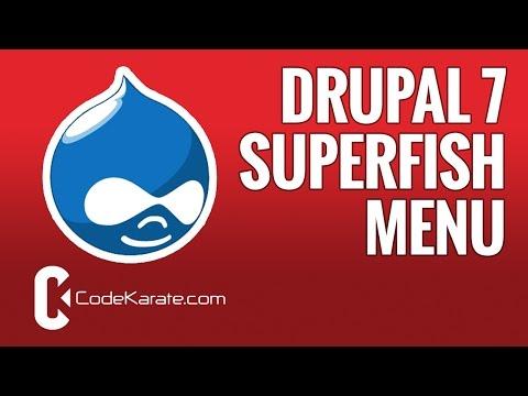 Drupal 7 Superfish: An easy way to get dropdown menus