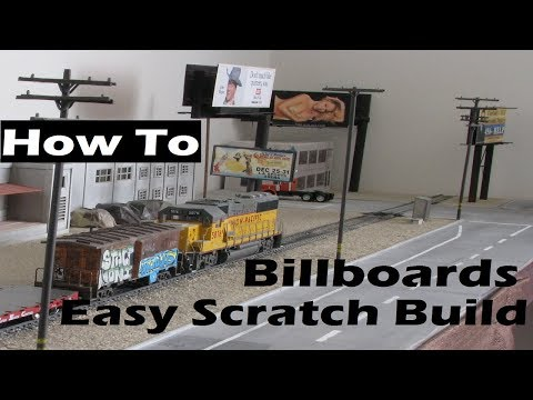 Model Railroad Scratch Build SImple Billboards for Super Cheap!