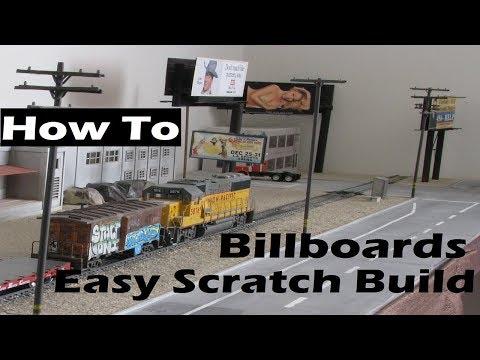 Model Railroad Scratch Build SImple Billboards for Super Cheap!