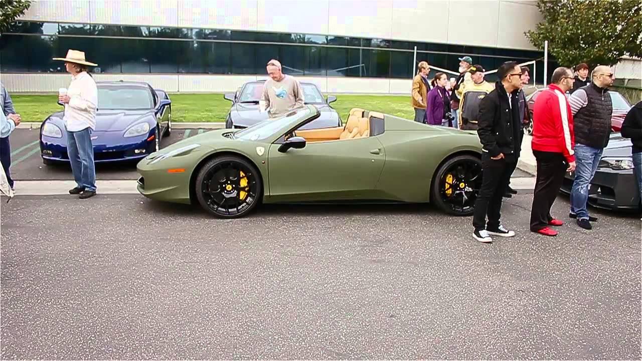 New 2013 Ferrari 458 Spider At C Amp Ci In Matte Army Green