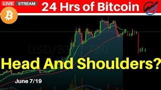 Bitcoin Prices Building A Head And Shoulders Top Formation? | June 7 2019