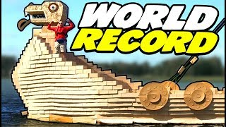 World Record Cardboard Vikingship | Craft Ideas For Kids on Box Yourself